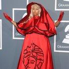 Nicki Minaj arrices at the Grammy Awards