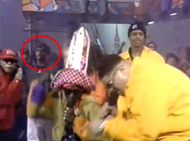 P Diddy as backing dancer in Heavy D TV performance