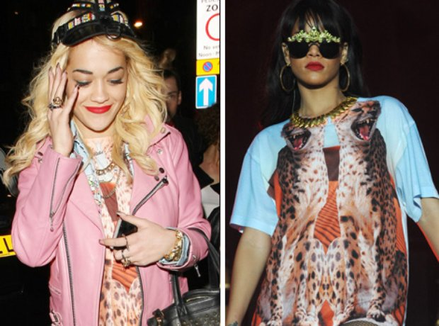 Rita Ora and Rihanna