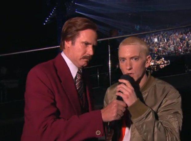 Eminem and Ron Burgundy