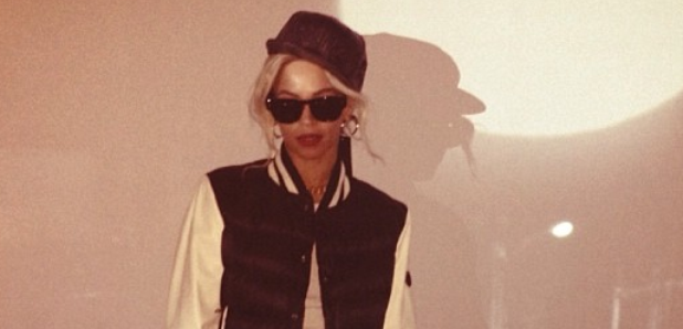 Beyonce wearing Jay Z clothes collection
