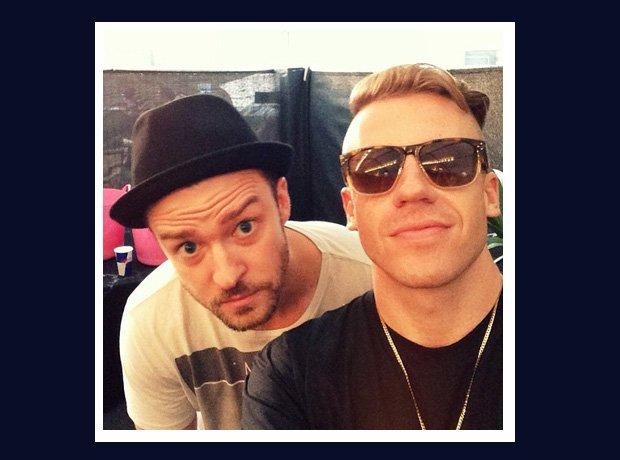 Macklemore and Justin Timberlake selfie