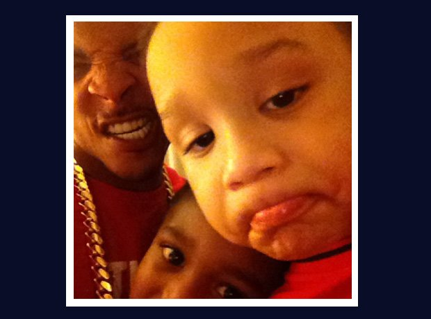 T.I. with his family selfie