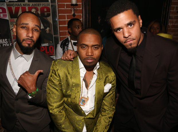 Swizz Beatz, Nas and J.Cole attend Vibe Impact Awa