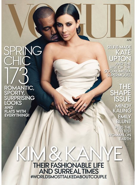 Kanye West and Kim Kasdashian Vogue cover