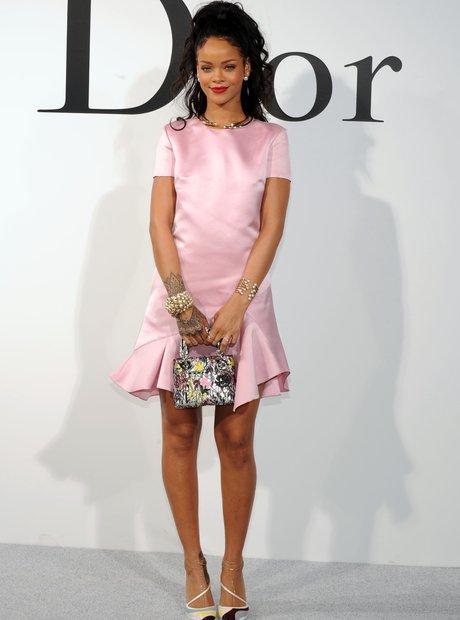 Rihanna attends the Christian Dior Cruise 2015 Sh
