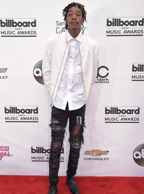 Wiz Khalifa arrives at the Billboard Music Awards