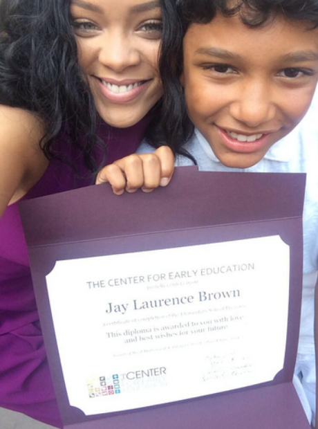 Rihanna and nephew graduation