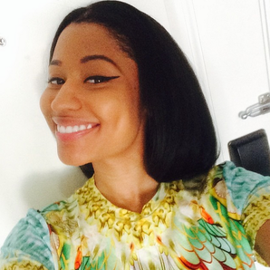 Nicki Minaj smiling Instagram