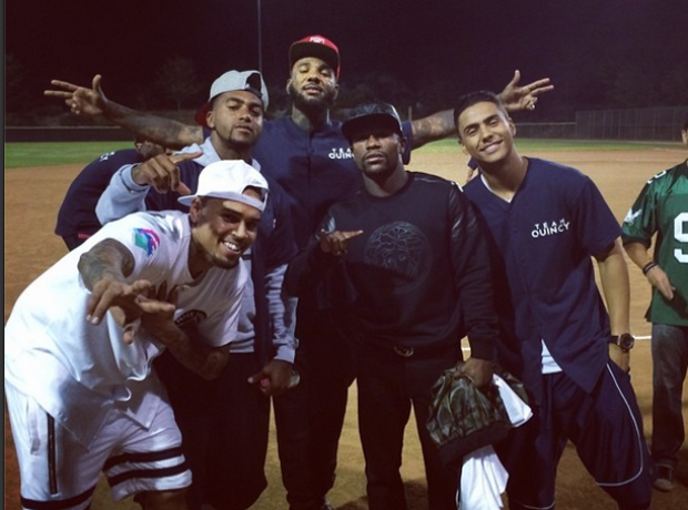 Chris Brown celebrity kickball game
