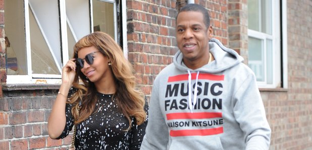 Beyonce and Jay Z in East London