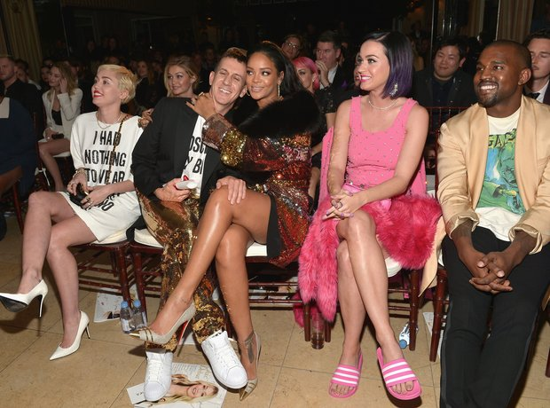Miley Cyrus, Jeremy Scott, Rihanna, Katy Perry and