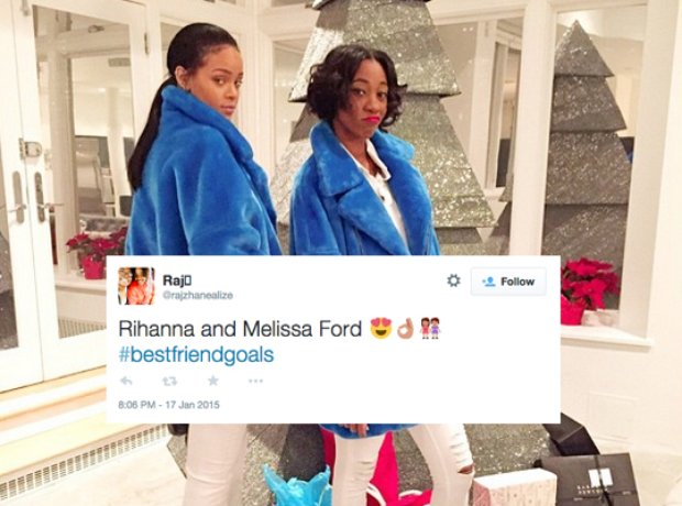 Rihanna and Melissa Ford Tweets