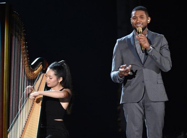 Usher live at the Grammy Awards