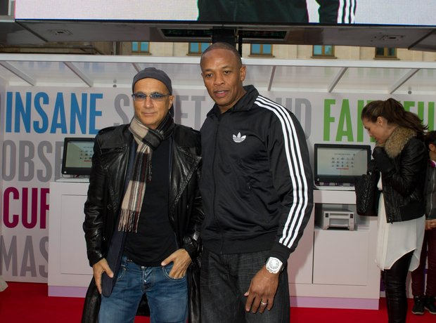Jimmy Lovine and Dr Dre