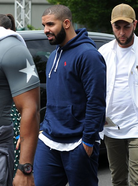 Drake attends Wimbledon Tennis Open