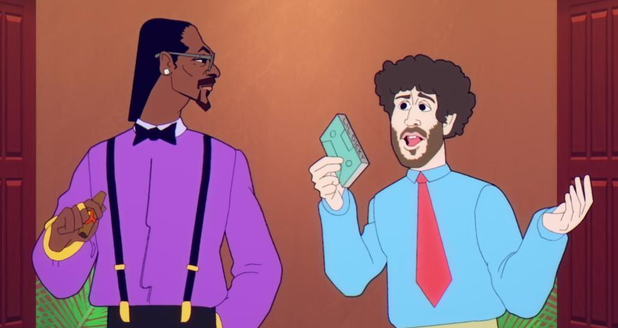 Animated Snoop Dogg and Lil Dicky