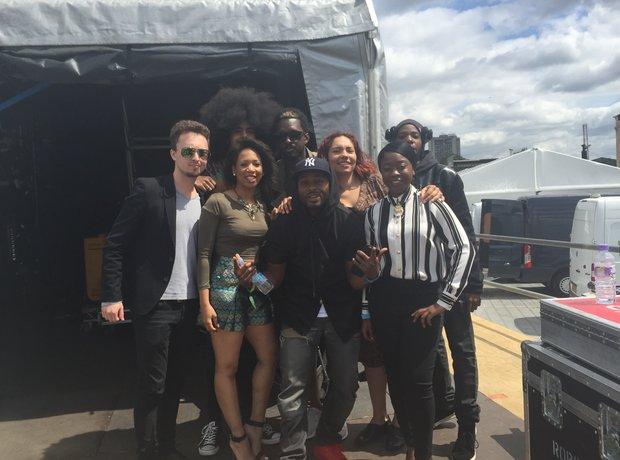 British Summer Time Festival Backstage