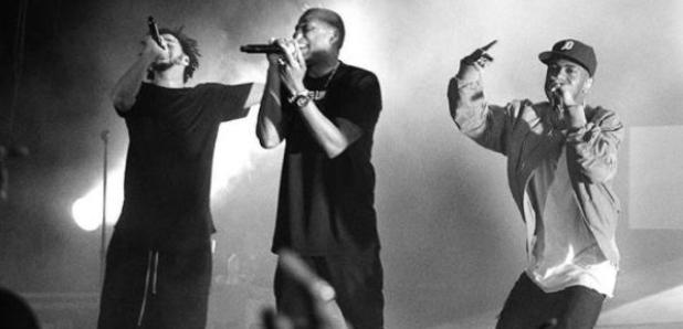 J. Cole Jay Z Big Sean on stage