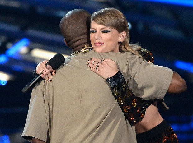 Kanye West and Taylor Swift at the MTV VMAs 2015