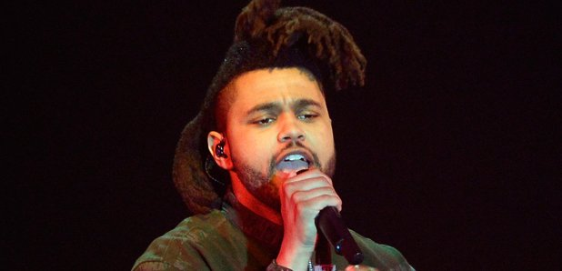 The Weeknd performs live on stage at the 2015 MTV