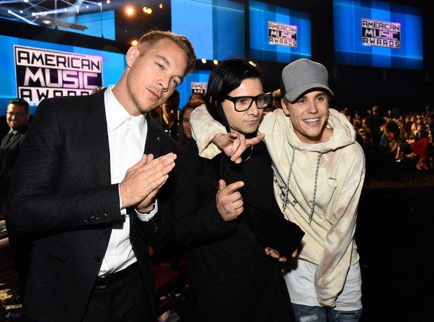 Diplo, Justin Bieber and Skrillex American Music A