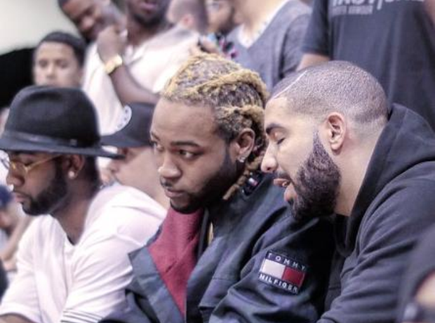 Drake sat next to Partynextdoor