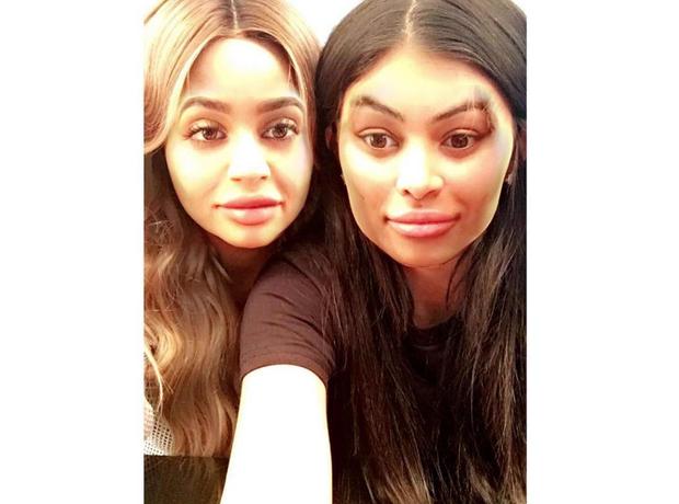 Blac Chyna Kylie Jenner faceswap