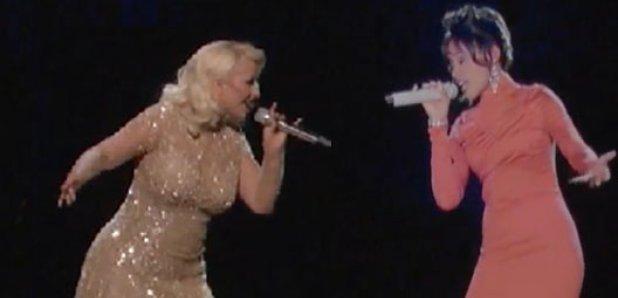 Christina Aguilera with Whitney Houston Hologram