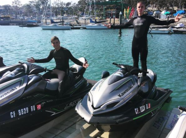 Martin Garrix and Justin Bieber on jet ski