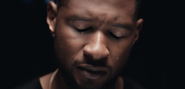 Usher crying