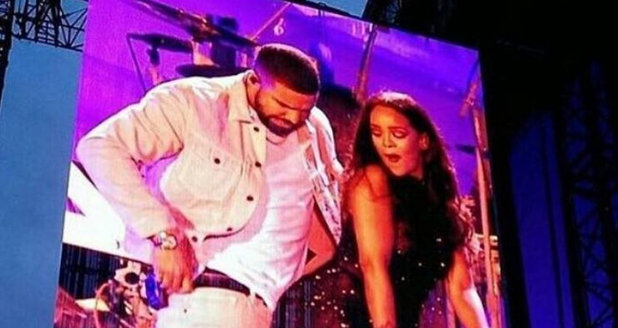 Rihanna and Drake in Manchester