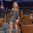 Celine Dion dancing on the tonight show