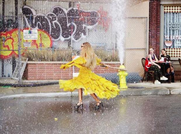 Beyonce on the set of Lemonade