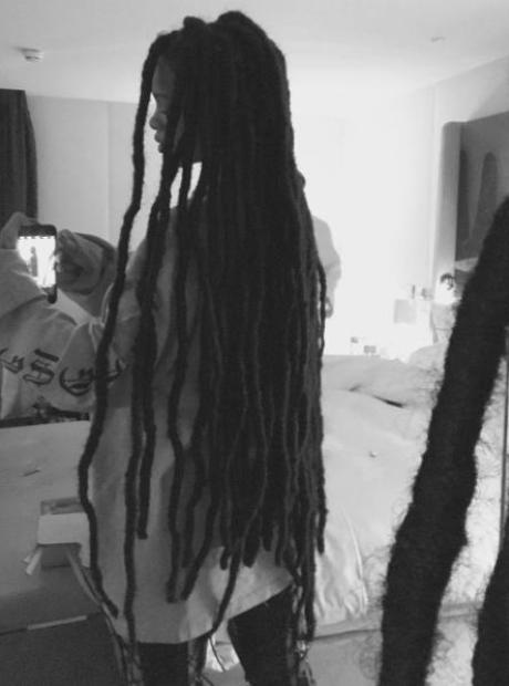 Rihanna Dreadlocks on Instagram