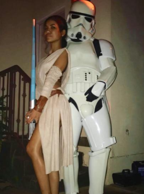 Jhene Aiko and Big Sean Halloween