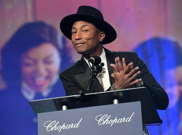 Pharrell spoke at the Palm Springs Film Festival a
