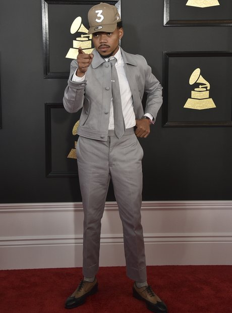 2 time grammy winner chance the rapper rocked his signature cap grammy capital xtra. Black Bedroom Furniture Sets. Home Design Ideas