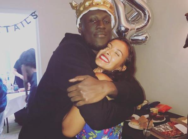 Maya Jama and Stormzy at his birthday party