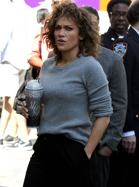 Jennifer Lopez with her special cup
